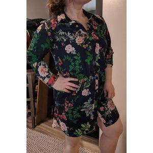 Express Dark Navy/floral print Medium Dress